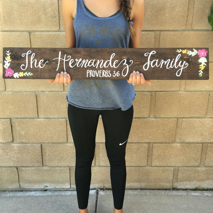 "Custom Family Sign Handmade hand-painted custom wooden signs for your home and more made by The Rustic Violet. Order at https://www.etsy.com/shop/TheRusticViolet and follow me on Instagram under ""TheRusticViolet"""