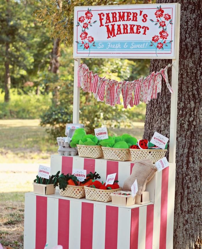 DARLING Farmer's Market Party via Kara's Party Ideas | KarasPartyIdeas.com - THE place for ALL things party & entertaining!