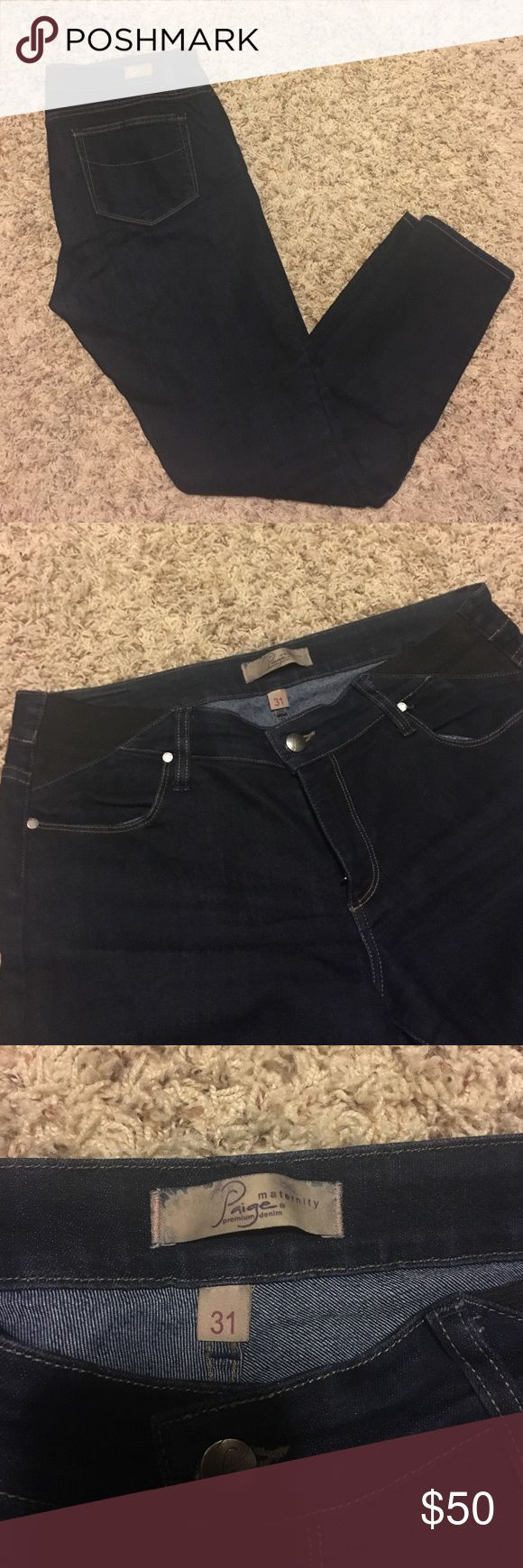 Paige Maternity Jeans Designer Paige Maternity Skinny Jeans with button and stretch sides. I LOVED these jeans during my two pregnancies! Paige Jeans Jeans Skinny