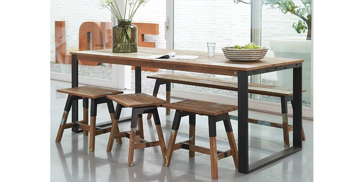 The Look Dining Table & Bench Seats by dBodhi from Hunter Furniture