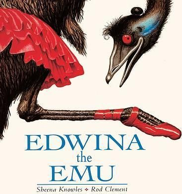 In-this-sequel-to-the-popular-Edward-the-Emu-Edward-and-his-mate-Edwina-are-the-proud-parents-of-10-little-emu-chicks-Dont-get-depressed-Ill-find-a-job-you-stay-on-the-nest-says-Edwina-to-her-stunned-mate-And-so-Edwina-sets-out-to-find-work-in-this-lighthearted-offering-from-Down-Under-Full-color