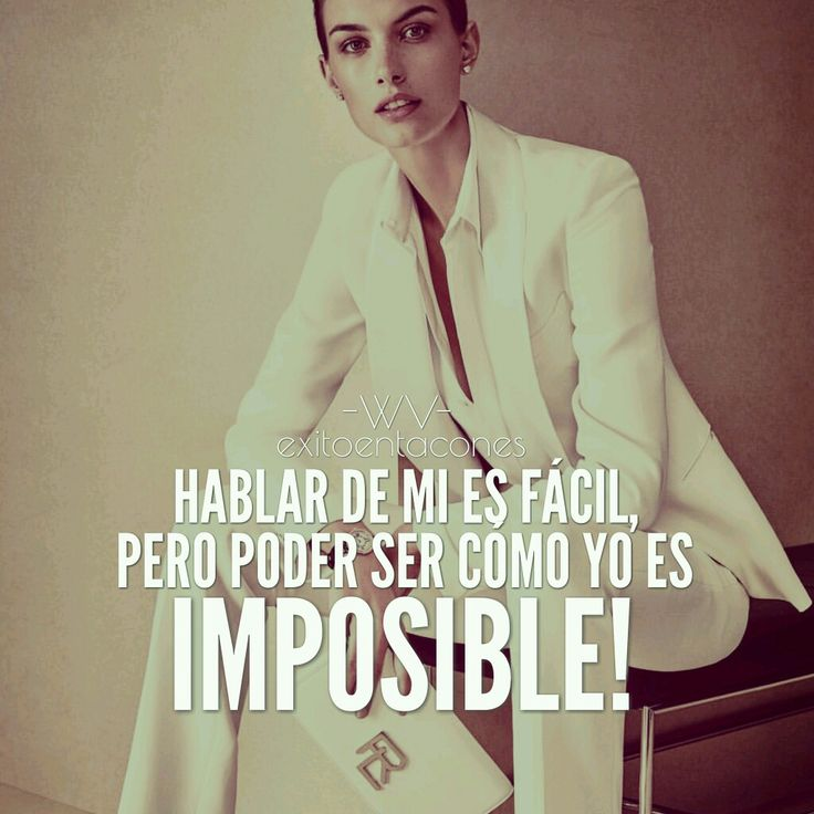 TALKING ABOUT ME IS EASY BUT TO BE LIKE ME IS IMPOSSIBLE