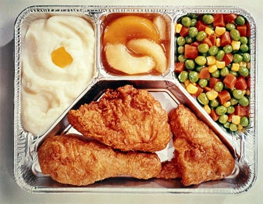 TV Dinners- you had to put these in the oven- no microwaves in those days