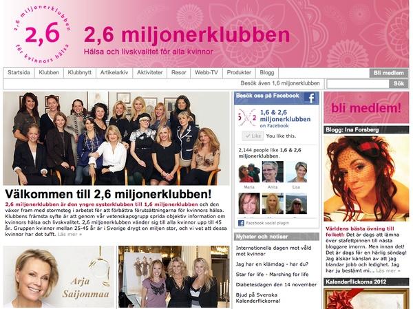 Design of The 1,6 Million Club For Womens Health's web by Sabina Wroblewski Gustrin, via Behance