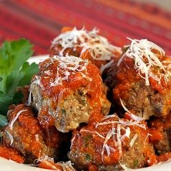 Classic Italian Meatballs - a tender, melt-in-your-mouth, big batch recipe for feeding a crowd or freezing for a variety of future meals.
