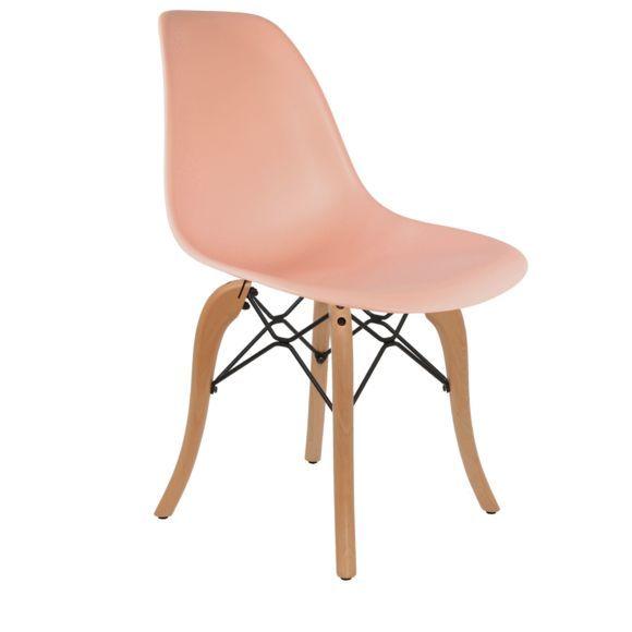 Chaise DSW Couleur Corail Rose Orangé Orange Rosé Chaise