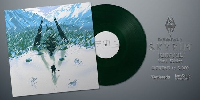 Check Out This Limited Edition 'Skyrim' Soundtrack Vinyl with Screenprints - http://www.entertainmentbuddha.com/check-out-this-limited-edition-skyrim-soundtrack-vinyl-with-screenprints/