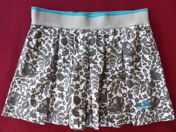 Stella McCartney Adidas Barricade Athletic Tennis Skort Skirt Flower Print sz M #StellaMcCartney #SkirtsSkortsDresses