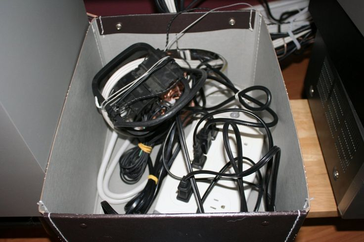 organize tv cords and cables