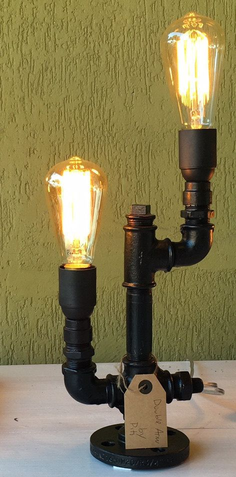 """Industrial Table Lamp """"Double Arm"""""""