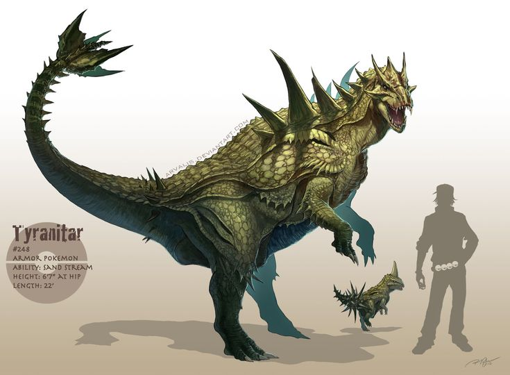 Awesome realistic Pokemon illustrations...in high res! /// Tyranitar /// by DeviantARTist arvalis