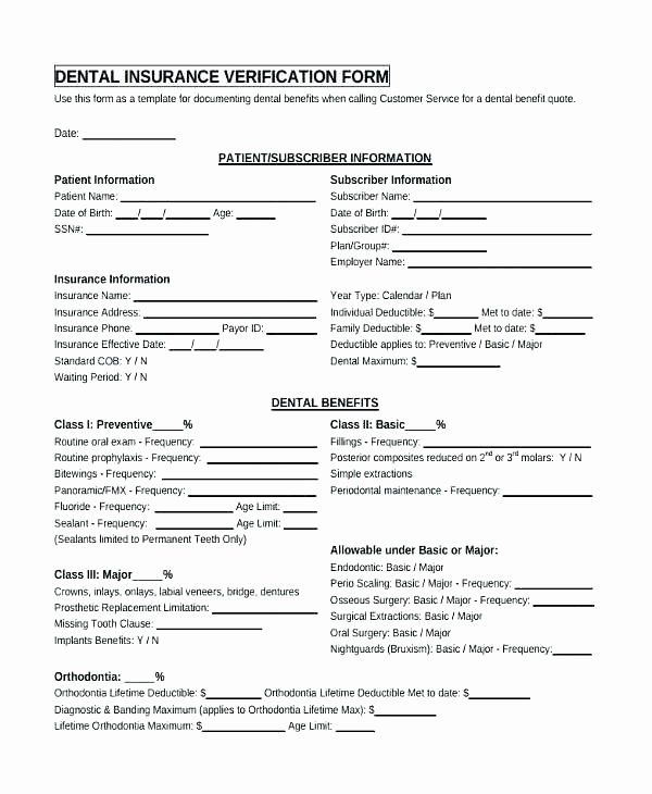 Patient Information Form Template Awesome Dental Patient Form