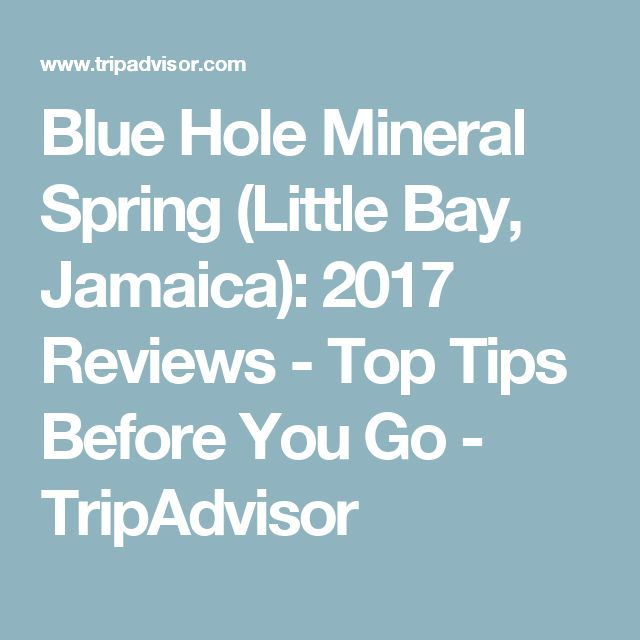 Blue Hole Mineral Spring (Little Bay, Jamaica): 2017 Reviews - Top Tips Before You Go - TripAdvisor