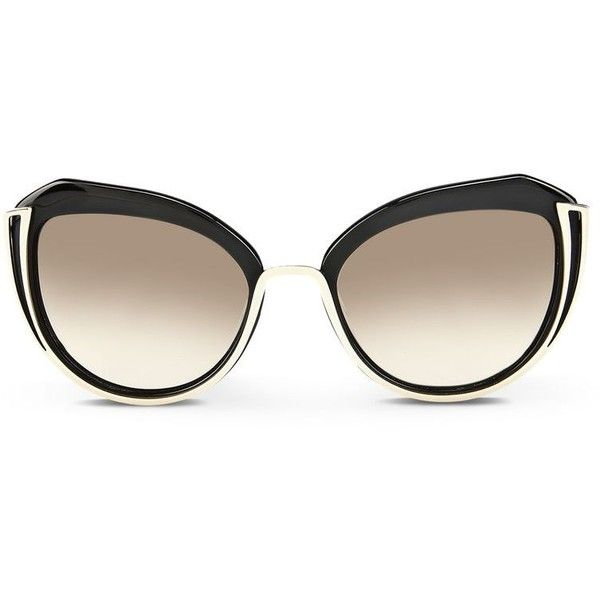 Karl Lagerfeld Piping Curved (220 AUD) ❤ liked on Polyvore featuring accessories, eyewear, sunglasses, black, transparent sunglasses, karl lagerfeld sunglasses, karl lagerfeld glasses, transparent glasses and logo sunglasses