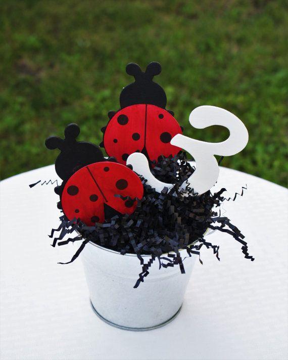 best  ladybug party centerpieces ideas on   ladybug, Baby shower invitation