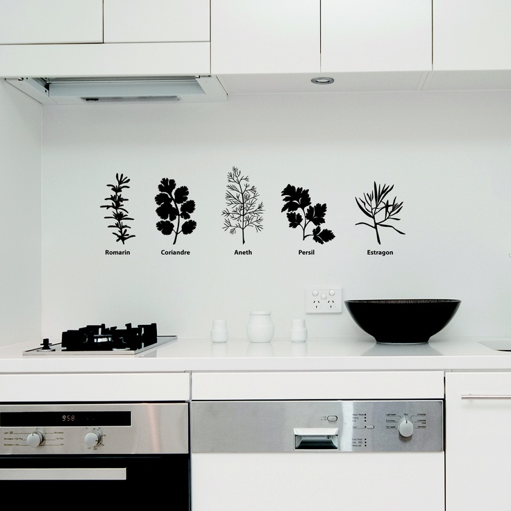 1000 images about wall stickers kitchen on pinterest for 1 2 wall kitchen ideas