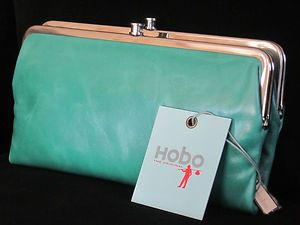 Hobo International Lauren Vintage Leather Wallet in Jade Beautiful | eBay Need this!!!!!!!!!!