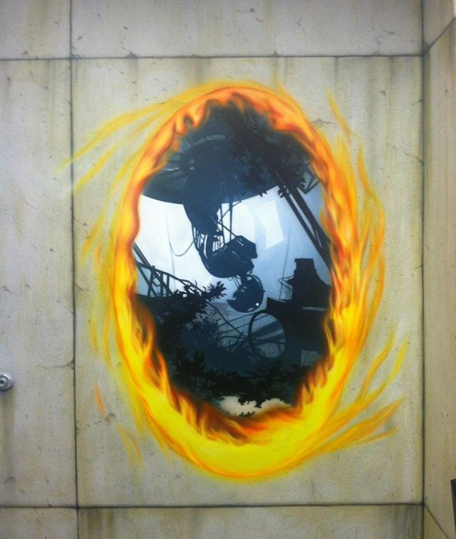 Portal 2 Office Art  This needs to be a life sized wall cling