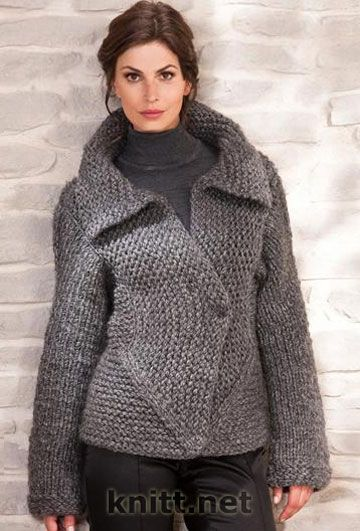 Shawl collar knitted cardigan single button