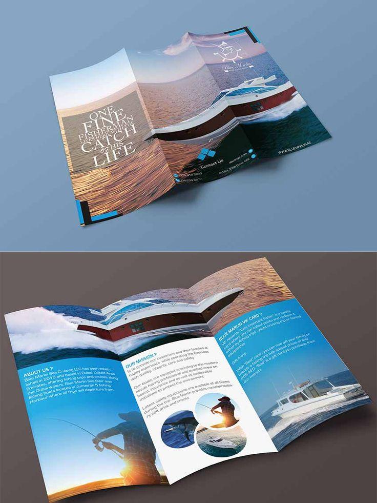 Tri Fold Brochure Mockups PSD