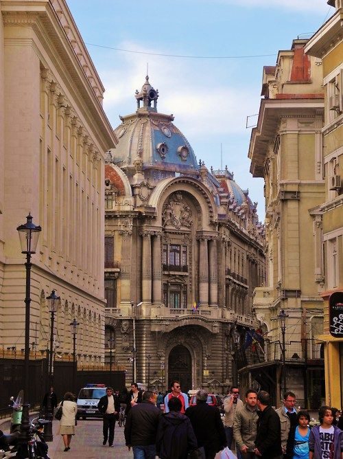 Bucharest, Romania- Lipscani area downtown.