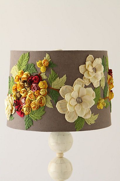 Could someone please tell me how to make this myself?!?? I LOVE it!! (but refuse to pay $98 for a lamp shade!)     Rose Landscape Shade #anthropologie