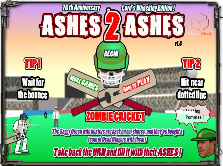 Ashes 2 Ashes - Australian Zombie Cricket in Ashes to Ashes Game