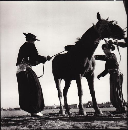 René Burri, Gauchos training Horses  Argentina, 1958.
