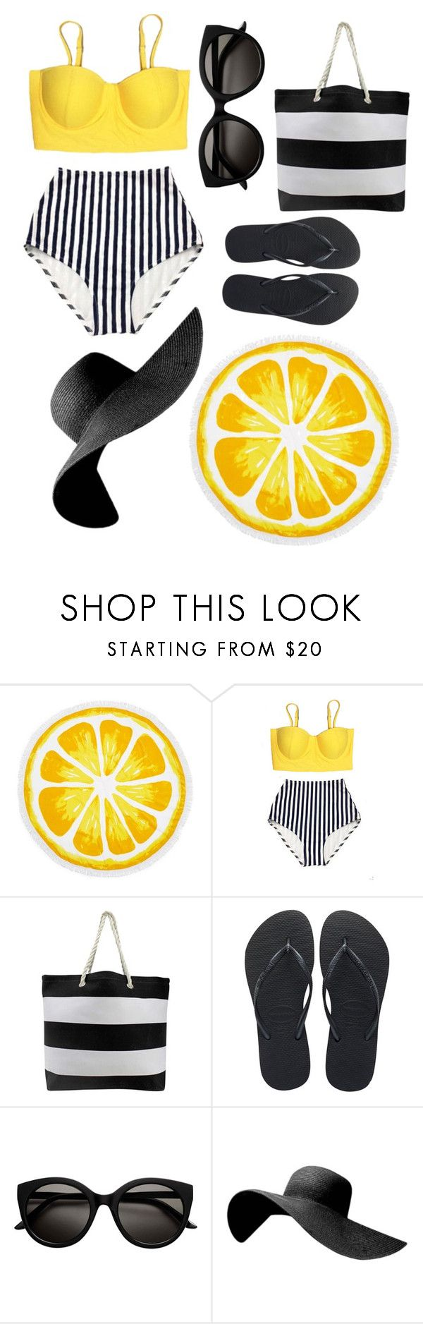 """""""Bey Good"""" by deetanai ❤ liked on Polyvore featuring Nordstrom Rack and Havaianas"""