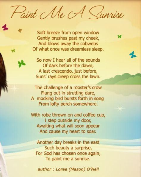 Good morning romantic poems