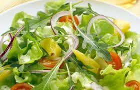 Gemengde salade. Nagerecht