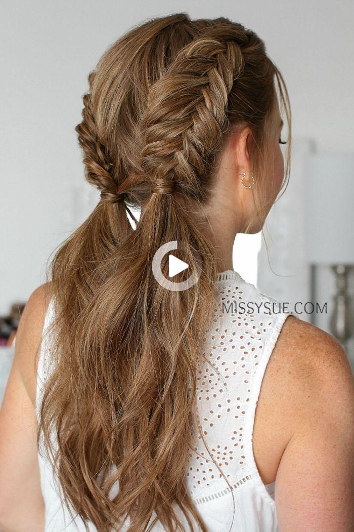 1001 Coiffures Rapides Et Faciles Pour Un Nouveau Style In 2020 Braids For Medium Length Hair Hair Styles Easy Hairstyles