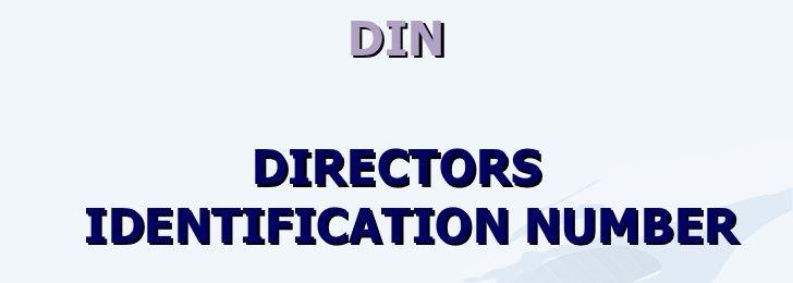 Directors Identification Number