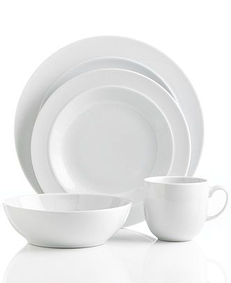 Denby Dinnerware, White 4 Piece Place Setting - Casual Dinnerware - Dining & Entertaining - Macy's