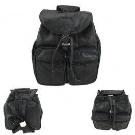 New Genuine Soft Seepskin Leather Backpack Ladies Women Black
