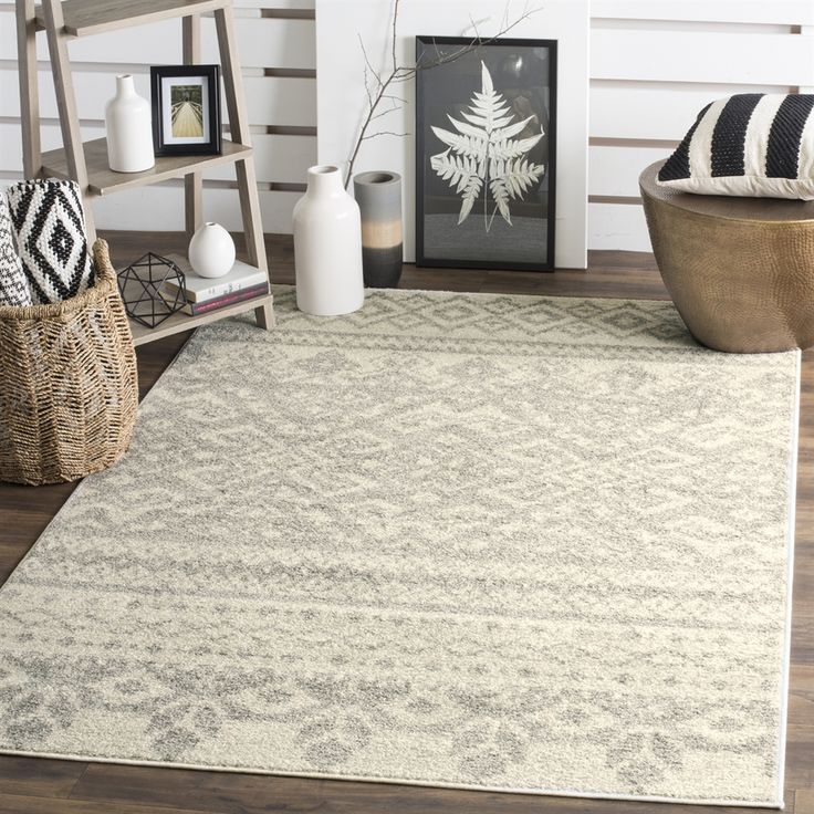 Shop Safavieh  ADR107B Adirondack Ivory and Silver Area Rug at Lowe's Canada. Find our selection of area rugs at the lowest price guaranteed with price match + 10% off.
