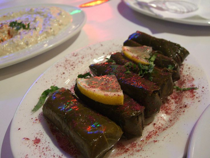 Dolma. Iin Turkish translates to any vegetable stuffed with a rice-based mixture. Lots of spices are used for the stuffing.