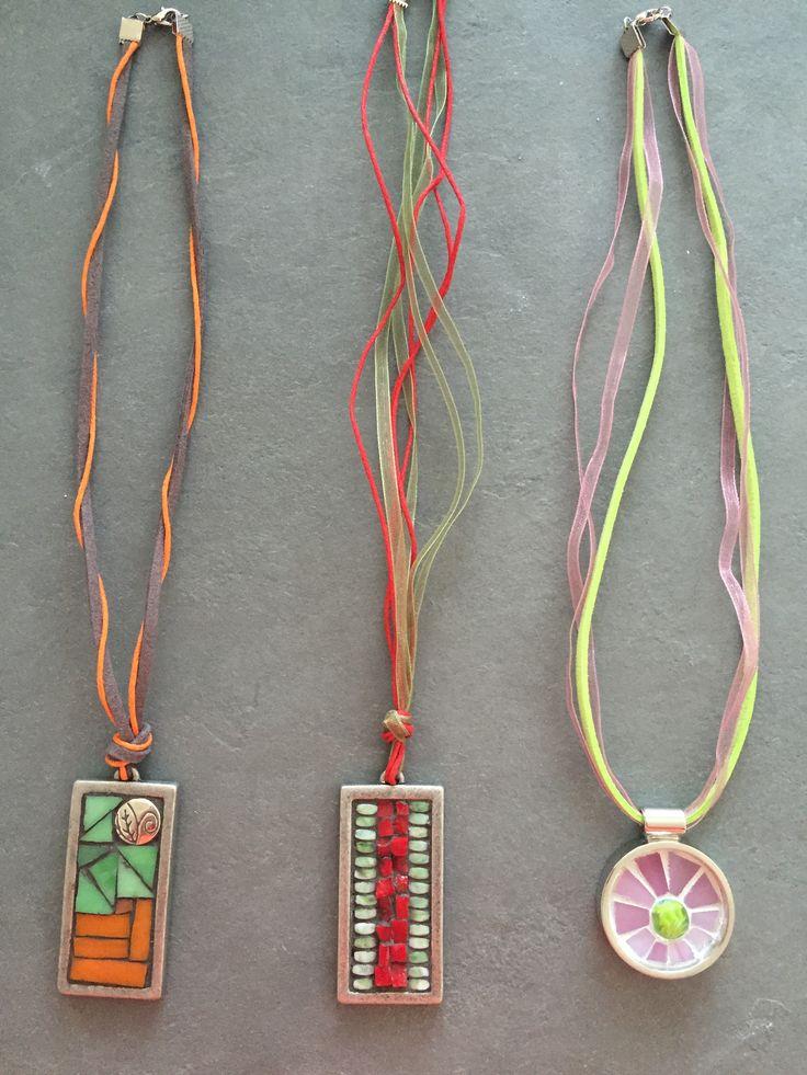 Mosaic pendants Fernanda Elortegui