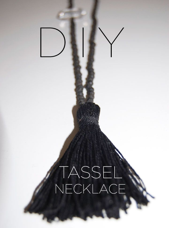 DIY How to make a Tassel Necklace. Love this!
