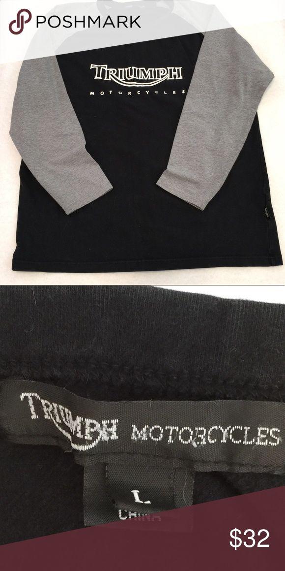 Black/Gray Triumph Motorcycles T-shirt L Black/Gray Triumph Motorcycles T-shirt L Triumph Shirts