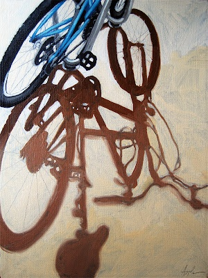shadow study: Painting a Day Art Blog - Oil Paintings on Canvas by Linda Apple