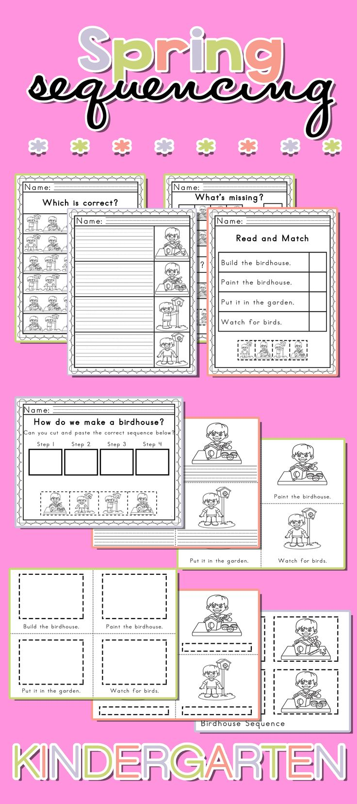 Worksheets Sequencing Worksheets best 25 sequencing worksheets ideas on pinterest story spring worksheets