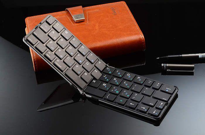 まだそんな大きいキーボードを持ってるの?ポケットに入る折りたたみキーボード「FLYSHARK」   U-NOTE【ユーノート】