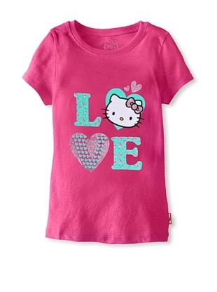 69% OFF Hello Kitty Girl's Love Glitter Tee (Fuchsia Purple)