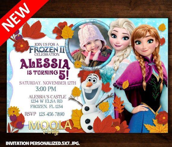 Frozen 2 Invitation Frozen 2 Birthday Invitations Frozen 2