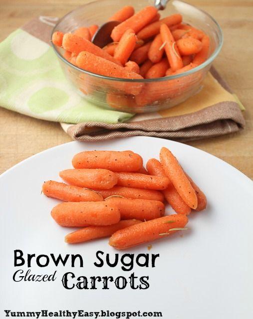 Yummy Healthy Easy: Brown Sugar Glazed Carrots