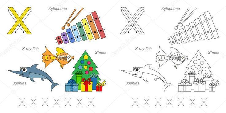 Фотографии для буквы X — стоковая иллюстрация #100264072