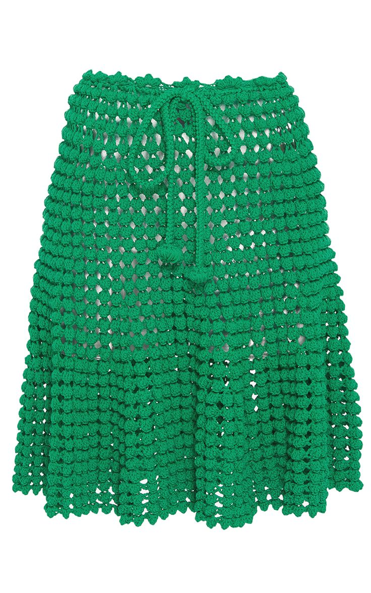 Popcorn Stitch Skirt by HELEN RöDEL for Preorder on Moda Operandi
