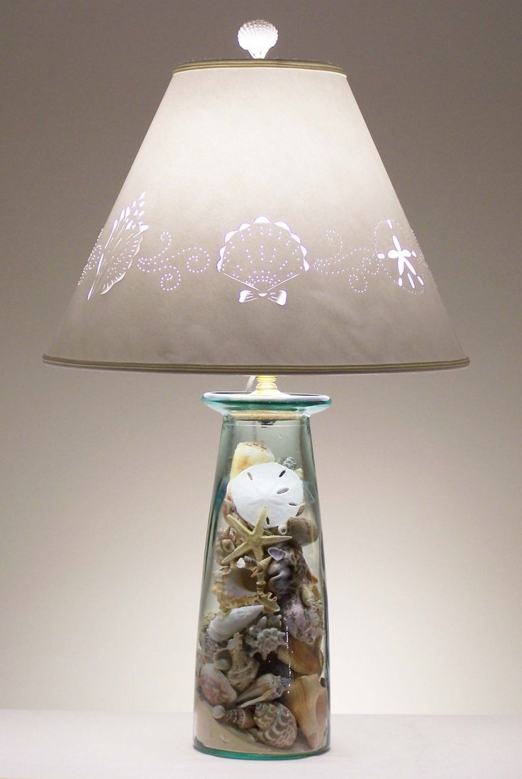 How to make a seashell lamp with a rustic shade not this
