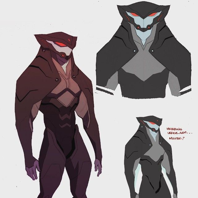 Can't show any new stuff I'm working on... so here's an old unused Black Manta…